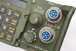 AUDIO/FILL and AUDIO/DATA connectors on the front panel of the RT-1439